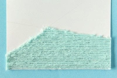 How to make a stitched card. DIY Yarn Embellished Cards - Step 7