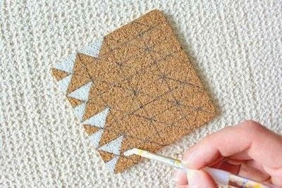 How to make a cork coaster. Diy Painted Cork Coasters - Step 3