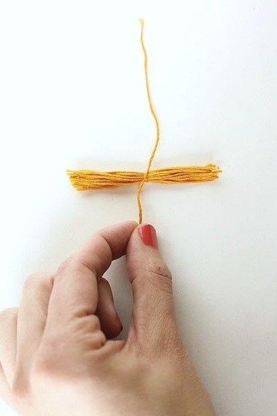 How to make a tassels. Diy Mini Tassel Fringe - Step 6