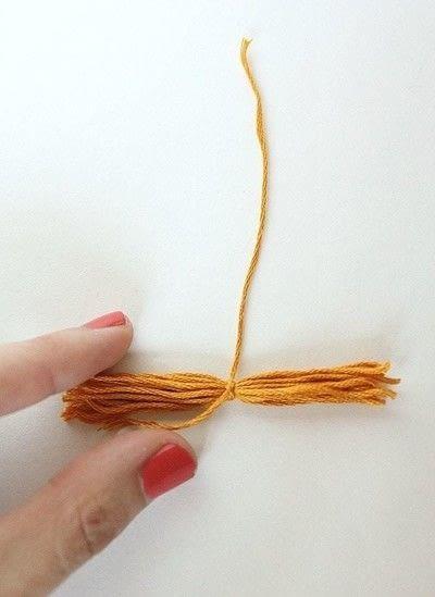 How to make a tassels. Diy Mini Tassel Fringe - Step 7