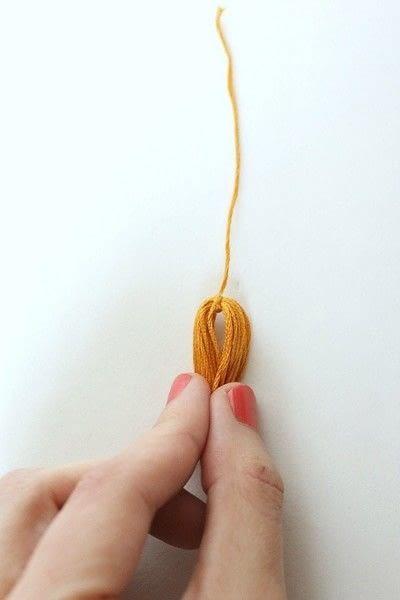 How to make a tassels. Diy Mini Tassel Fringe - Step 8