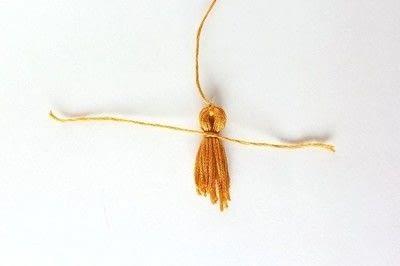 How to make a tassels. Diy Mini Tassel Fringe - Step 10