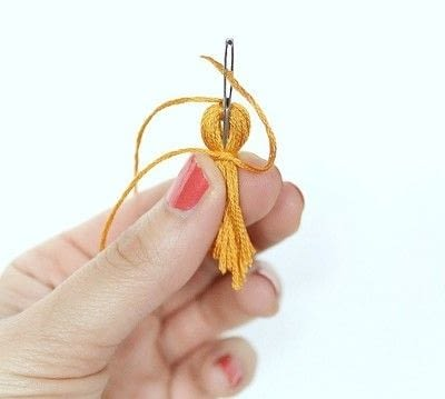 How to make a tassels. Diy Mini Tassel Fringe - Step 11
