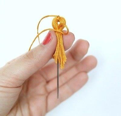 How to make a tassels. Diy Mini Tassel Fringe - Step 12