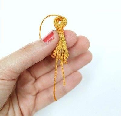 How to make a tassels. Diy Mini Tassel Fringe - Step 13