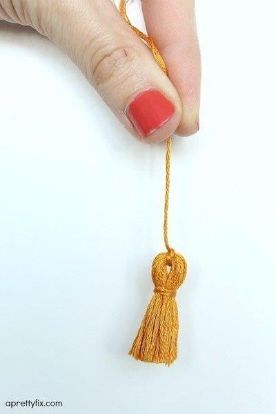 How to make a tassels. Diy Mini Tassel Fringe - Step 15
