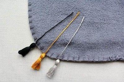 How to make a tassels. Diy Mini Tassel Fringe - Step 16