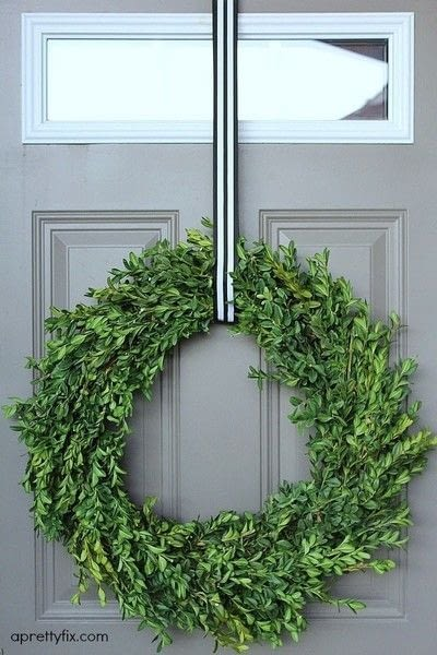 How to make a branch & twig wreath. How To Make A Boxwood Wreath - Step 6