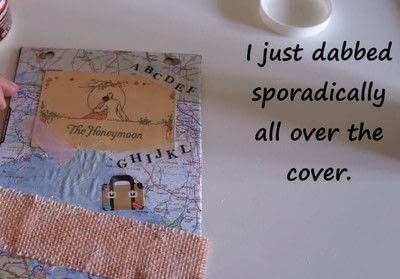 How to decorate an altered journal. Diy Art Journal With Canvas Corp Brands - Step 12