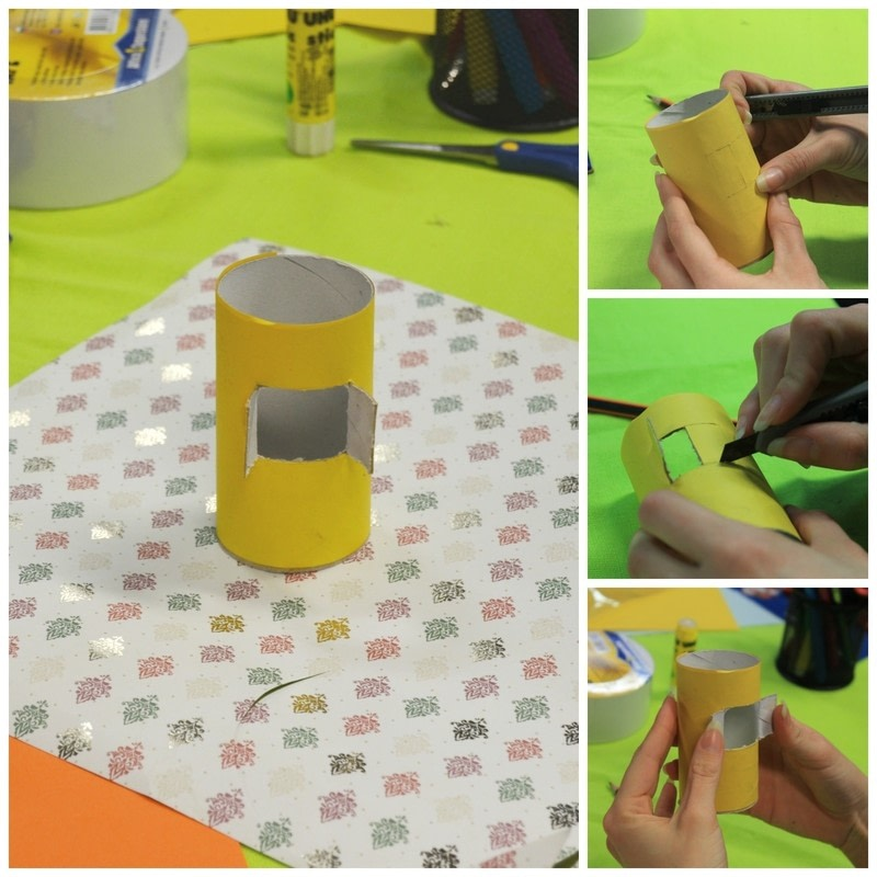 Diy cute paper birdhouse kids room decor how to make a for Room decor out of paper