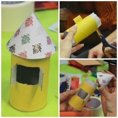 How to make a dolls house. Diy Cute Paper Birdhouse Kids Room Decor - Step 5