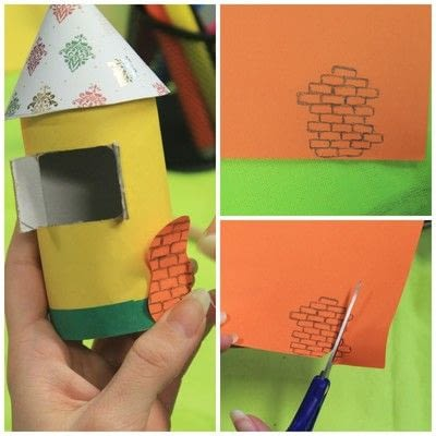 How to make a dolls house. Diy Cute Paper Birdhouse Kids Room Decor - Step 7