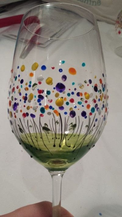 How to make a glass. Floral Wine Glasses - Step 5