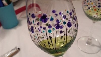 How to make a glass. Floral Wine Glasses - Step 6