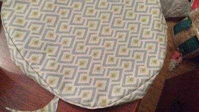 How to make a cushion. Rocking Chair Cushion Cover - Step 8