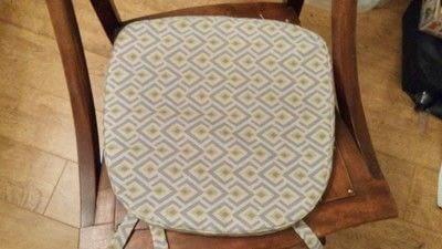 How to make a cushion. Rocking Chair Cushion Cover - Step 9