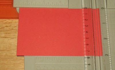 How to make a greetings card. Embossing Ink Card  - Step 3