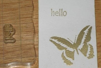 How to make a greetings card. Embossing Ink Card  - Step 4