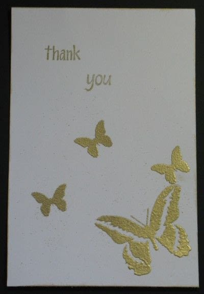 How to make a greetings card. Embossing Ink Card  - Step 6