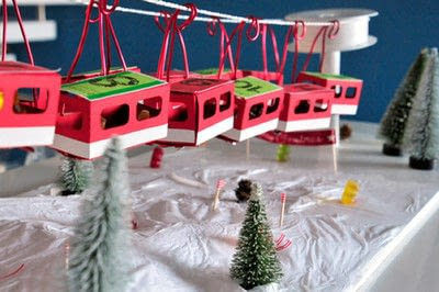 How to make an advent calendar. Ski Resort Funicular Advent Calender - Step 3