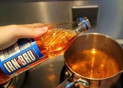 How to make toffee. Irn Bru Toffee - Step 1