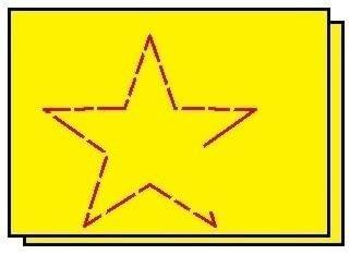 How to make a shape plushie. Titanic Star Plushie - Step 1