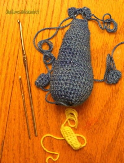How to make a narwhal plushie. Amigurumi Narwhal Pattern - Step 3