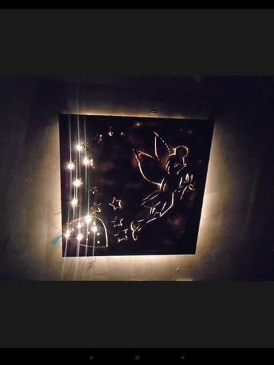 How to make a wall light. Canvas Cut Lights - Step 6