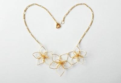 How to make a wire pendant. Wire Flower Necklace  - Step 18