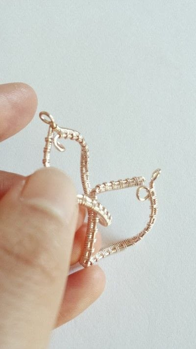 How to make a pair of wire earrings. Cascading Diamond Earrings  - Step 14