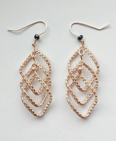 How to make a pair of wire earrings. Cascading Diamond Earrings  - Step 22