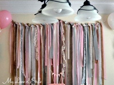 How to make a garland. Fabric Garland Backdrop - Step 10
