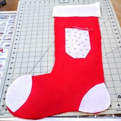 How to make a Christmas stocking. Christmas Stockings - Step 6
