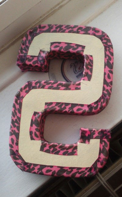 How to make a misc. Mache Letter Present - Step 8