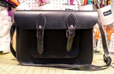 How to make a satchel. Tweed Pocket Satchel - Step 1