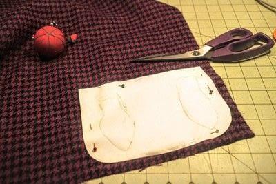 How to make a satchel. Tweed Pocket Satchel - Step 2