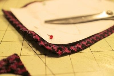 How to make a satchel. Tweed Pocket Satchel - Step 5