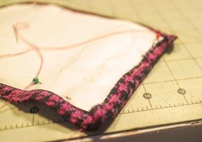How to make a satchel. Tweed Pocket Satchel - Step 6