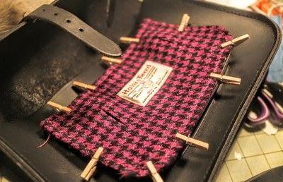 How to make a satchel. Tweed Pocket Satchel - Step 13