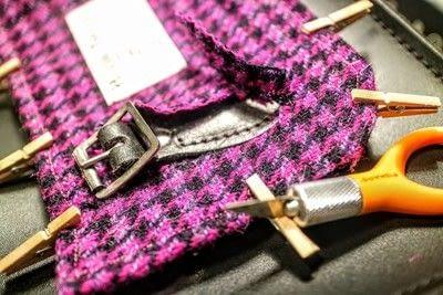How to make a satchel. Tweed Pocket Satchel - Step 15