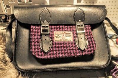 How to make a satchel. Tweed Pocket Satchel - Step 16