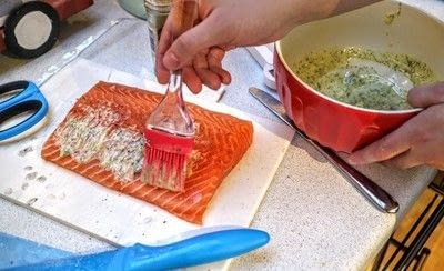How to bake a fish pie. Salmon En Croute - Step 2