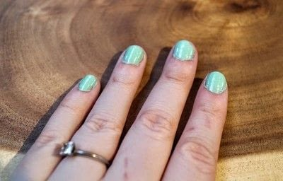 How to paint an embellished nail manicure. Figaro Nail Decals - Step 1