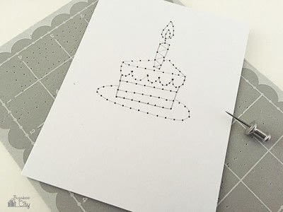 How to stitch an embroidered card. Embroidered Cards Using Woven Labels - Step 2