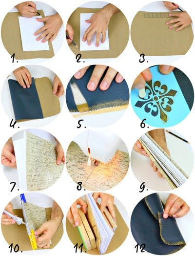 How to make paper. Easy Bound Journal Diy - Step 3