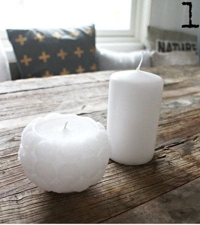 How to make a candle. Re Melted Candle - Step 1