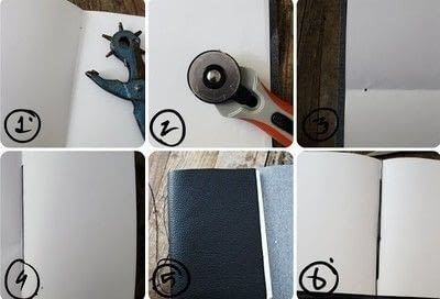 How to make a leather journal. Diy Leather Notebook - Step 1