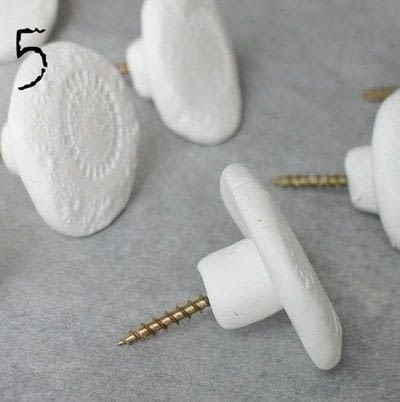 How to make a hook or hanger. Diy Clay Knobs - Step 5
