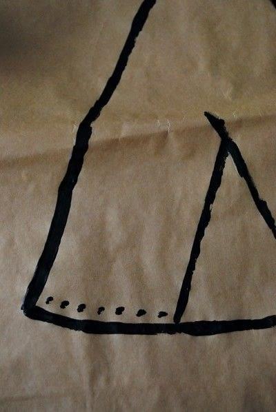 How to make a bowl or basket. Diy Paper Bag Storage - Step 2