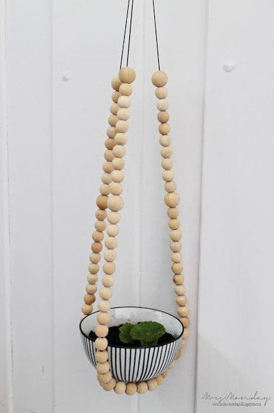 Diy Beaded Plant Hanger 183 How To Make A Hanging Planter